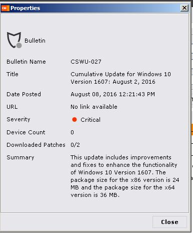 Will the Cumulative update for Windows 10 Versi... | BMC Communities