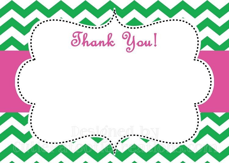How to create Printable Thank-You Cards template — Anouk Invitations