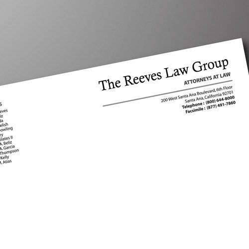 Law Firm Letterhead Design | Stationery contest