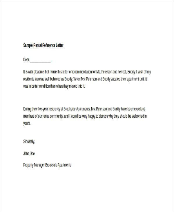 Housing Reference Letter. Housing Reference Letter Sample Sample ...