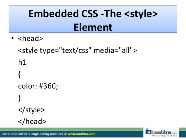Css with example