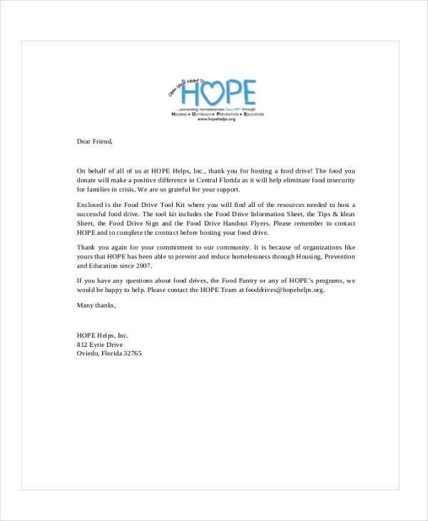 Thank You Letters For Donation. Thank You Letters For Donations To ...