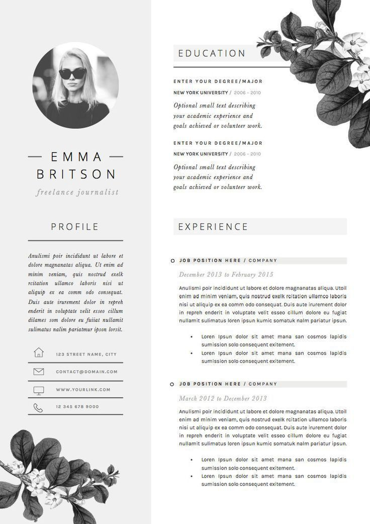 60 best RESUME LAYOUTS images on Pinterest | Resume layout, Resume ...