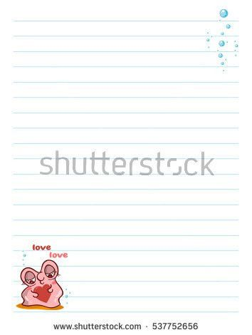 Vector Printing Paper Note Cute Paper Stock Vector 537752671 ...