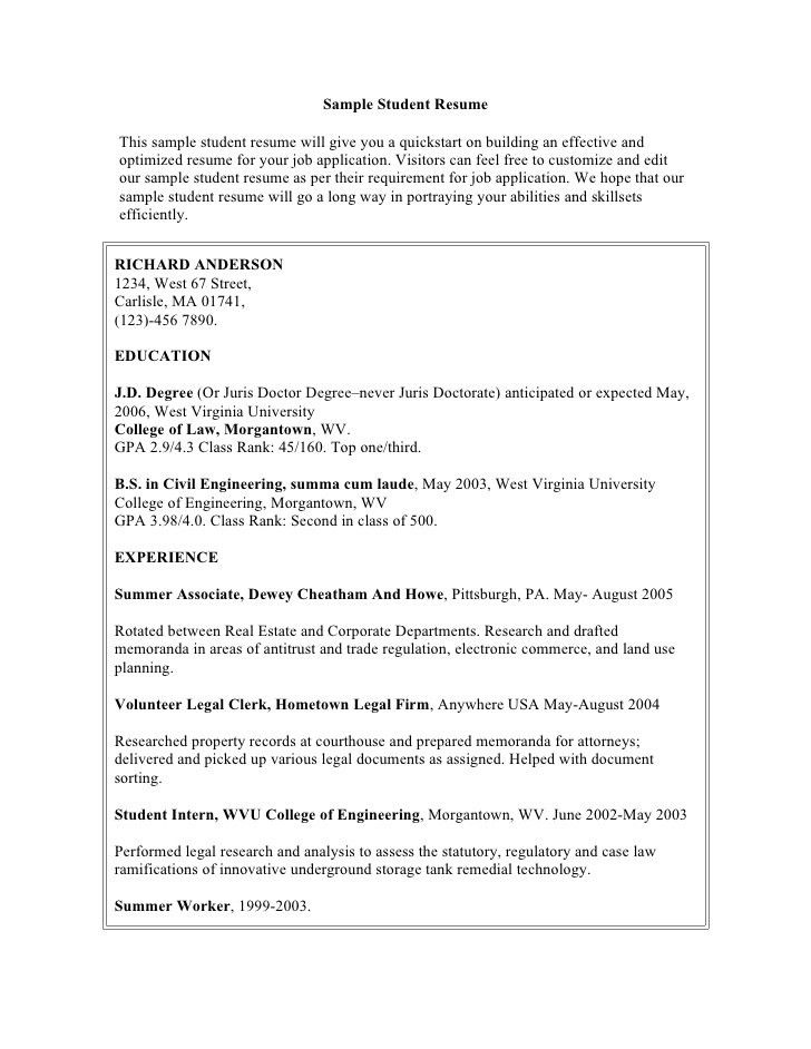 limited experience. university student resume sampleresume samples ...