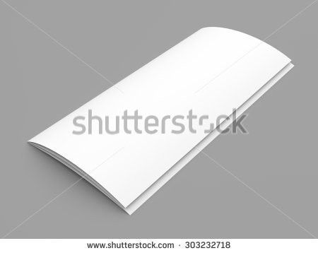 Leaflet Blank Zigzagfold White Paper Brochure Stock Illustration ...
