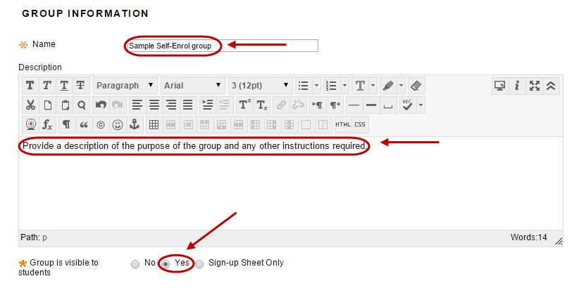 Create a Group Set - Self-Enrol (Signup sheets) - eLearning - The ...