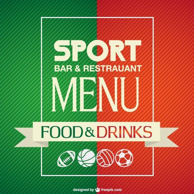 Sport bar menu template Vector | Free Download