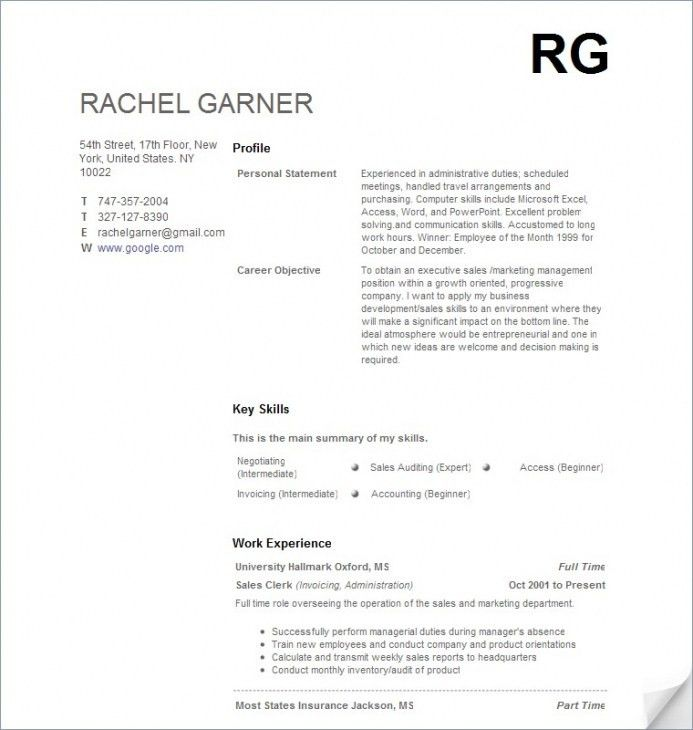 resume layout samples graduate resume template undergraduate ...