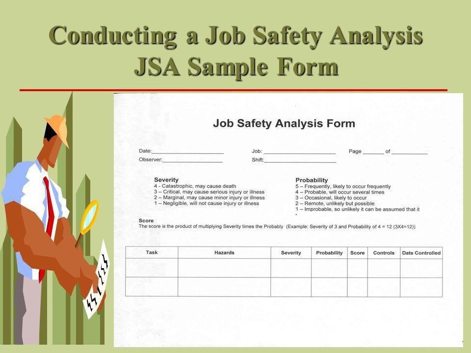 Job Safety Analysis Or Job Hazard Analysis. Job Safety Analysis Or ...
