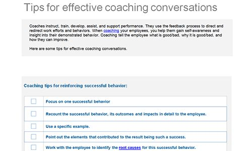 Employee feedback and coaching templates | Download toolkit