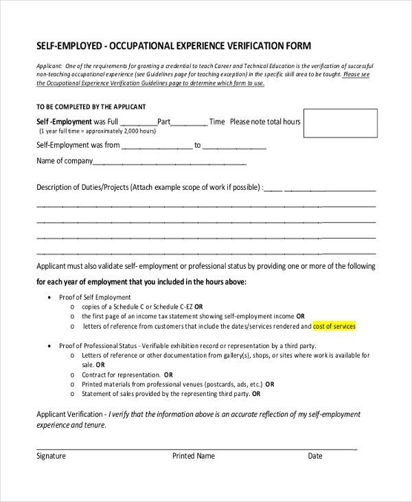 Sample Proof of Employment Letter - 10+ Sample Documents in PDF, Doc