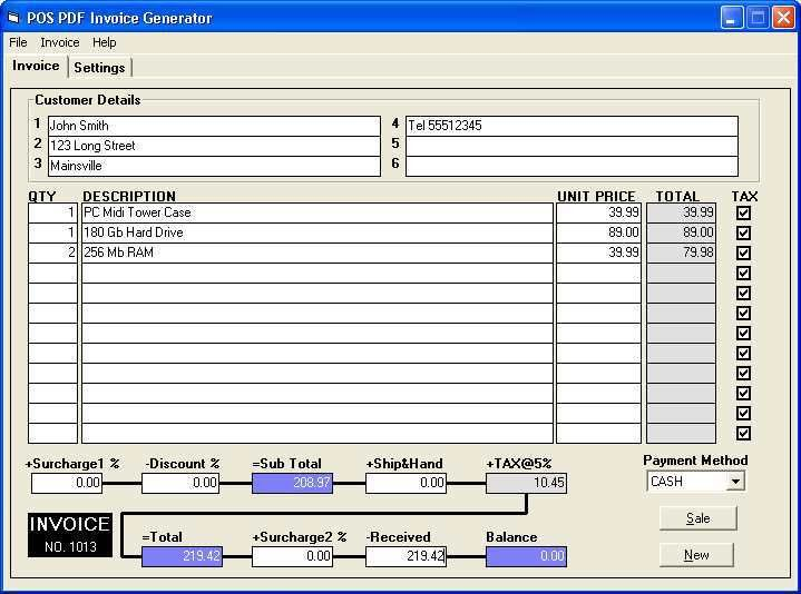 Invoice Generator Software | free printable invoice
