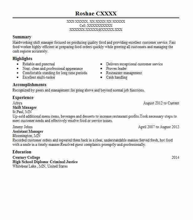Best Shift Manager Resume Example | LiveCareer