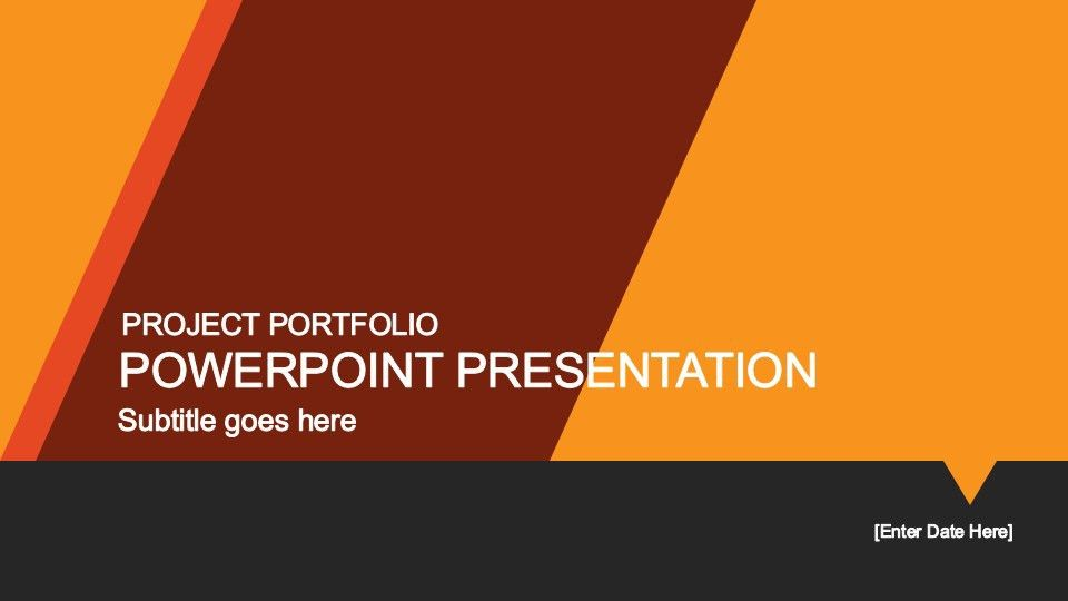 Yellow Portfolio PowerPoint Template - SlideModel