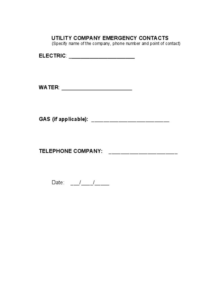 Emergency Action Plan Template Free Download