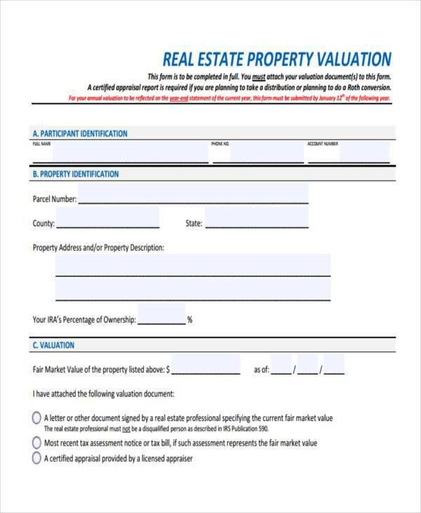 Sample Property Evaluation Forms - 7+ Free Documents in Word, PDF
