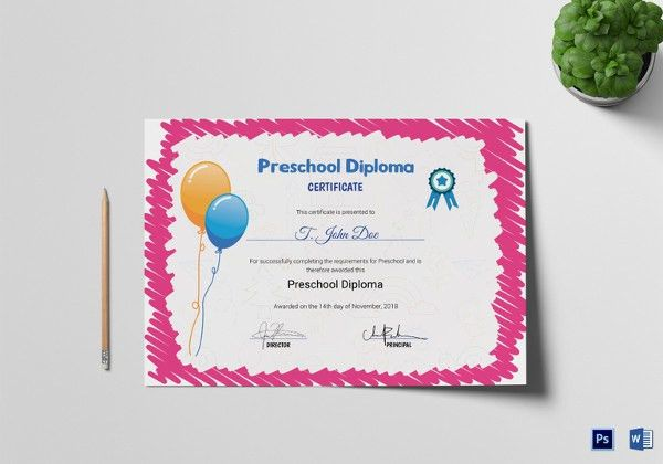 School Certificate Template - 20+ Free Word, PSD Format Download ...