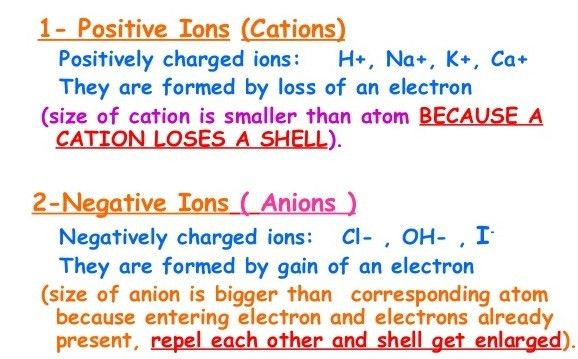 What are the Two Types of Ions and how are they Different