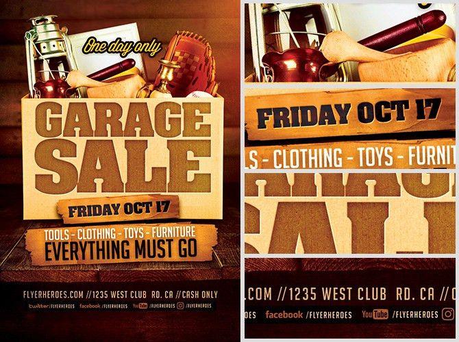 Garage Sale Flyer Template - FlyerHeroes