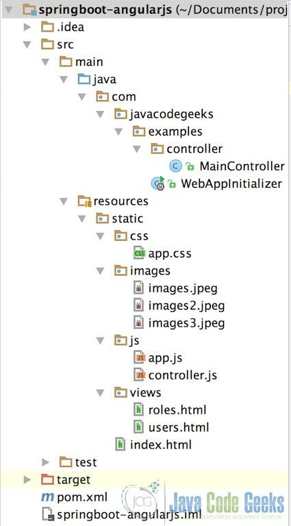 Spring Boot and AngularJS Integration Tutorial | Examples Java ...