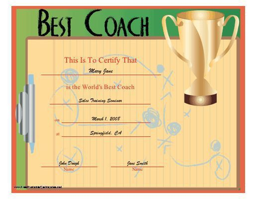 7 best Sport Certificates images on Pinterest | Award certificates ...