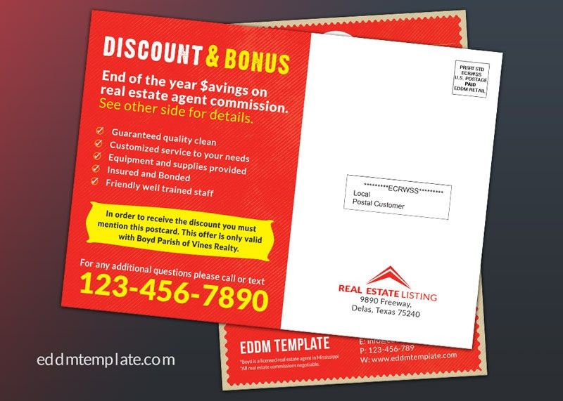 Direct Mail EDDM with Coupon Code | Download EDDM Template
