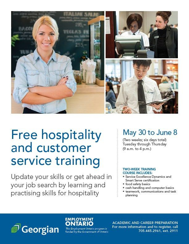 Free customer service and hospitality service training - The Blue ...