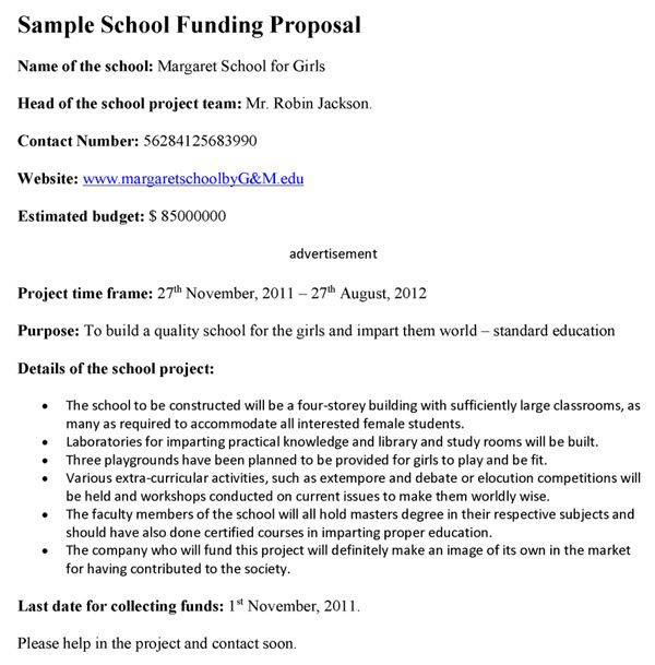 School Funding Proposal