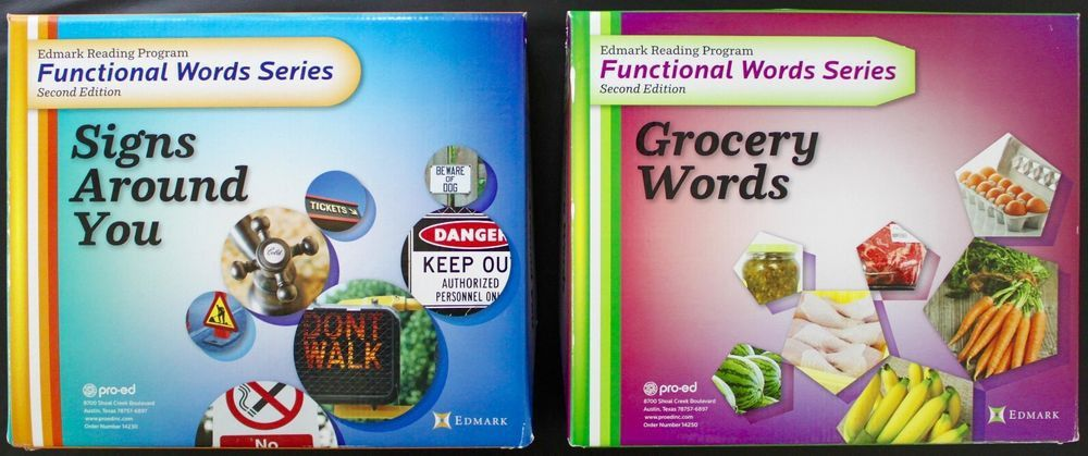 Edmark Reading Program Functional Words Series Signs Around You ...