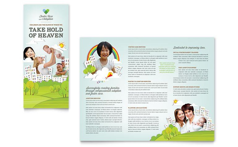 Foster Care & Adoption Brochure Template - Word & Publisher
