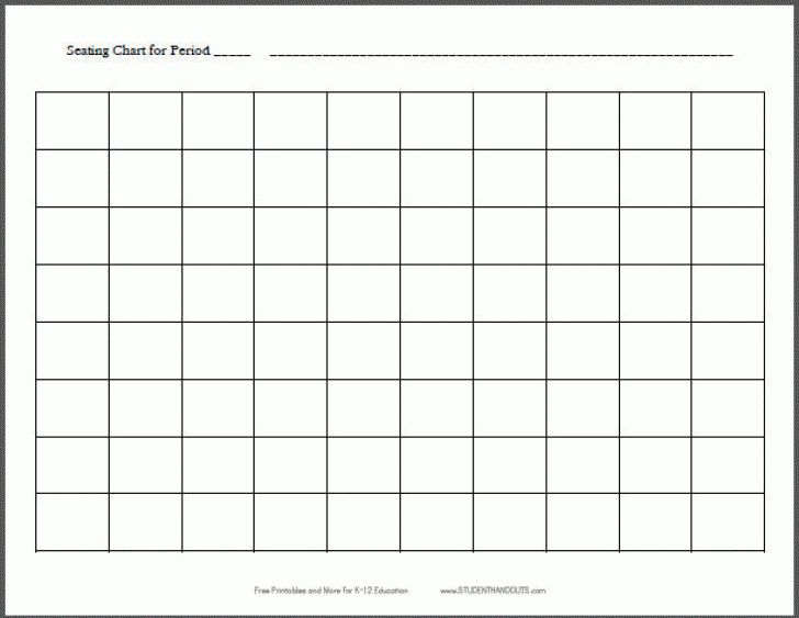 Blank table chart template