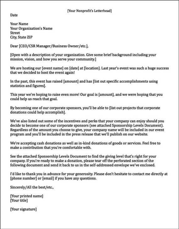 Download Cover Letter For Sponsorship Proposal ...