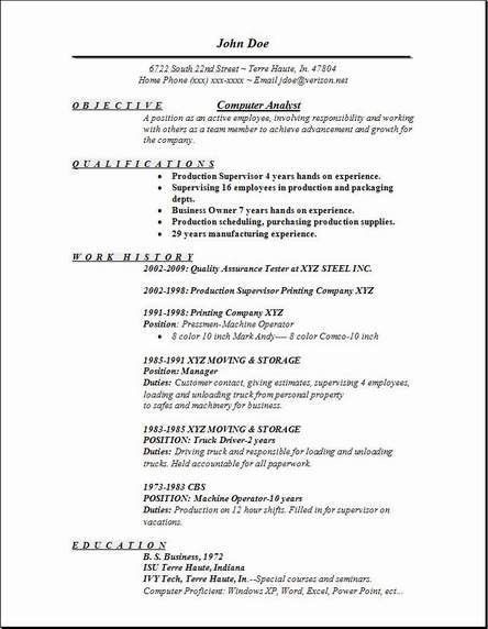 Computer Analyst Resume, Occupational:examples, samples Free edit ...