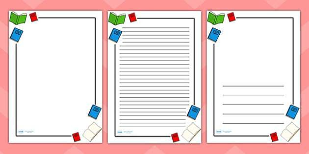 Literacy Page Borders - Literacy, writing, page border, a4