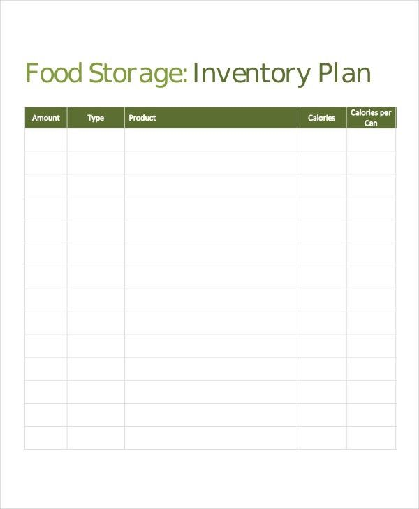 7+ Storage Inventory Templates - Free Sample, Example Format ...