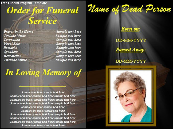 Free Funeral Program Templates | ... download button and make this ...