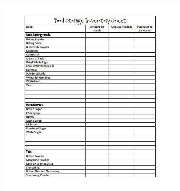 Restaurant Inventory Template. 15 Inventory Sheet Pdf   Bedding ...