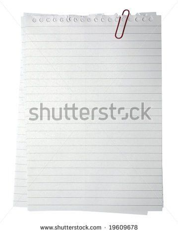 Notebook Paper Background For Word [Template.billybullock.us ]