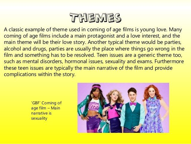 Coming of age' Genre Conventions