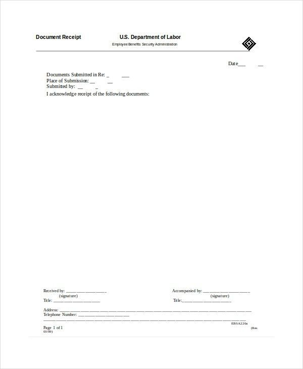 Receipt Template - 13+ Free Word, PDF Documents Download | Free ...
