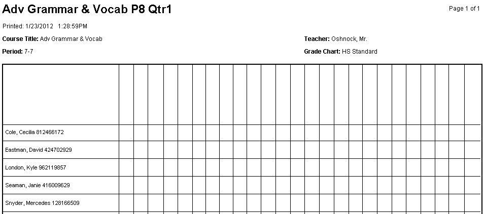 5 Best Images of Attendance Grid Checklist - Attendance Grid ...