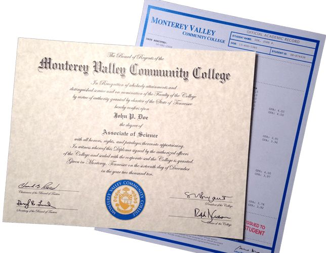 FAKE DIPLOMAS | College & University Replicas