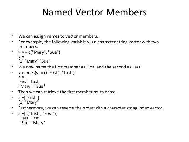 Vector in R