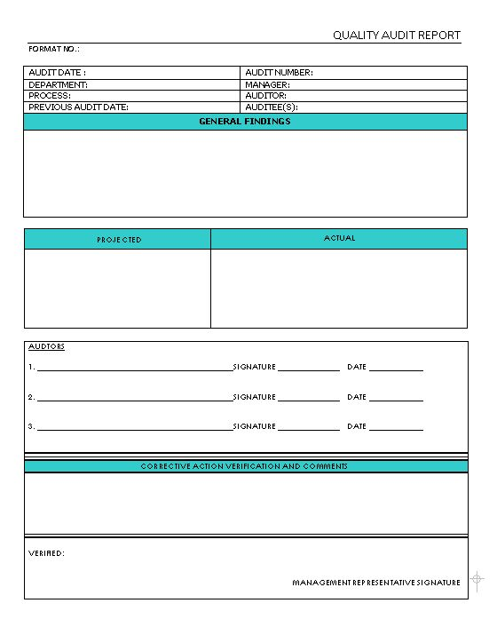 Brilliant Internal Audit Report Template Sample with Table Format ...