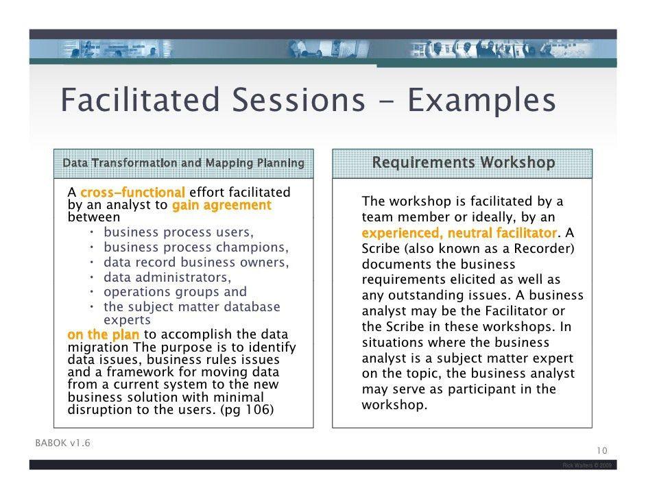 IIBA Facilitation Skills For Business Analysis v2