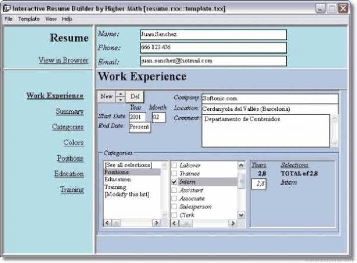 free resume builder and download free basic resume templates
