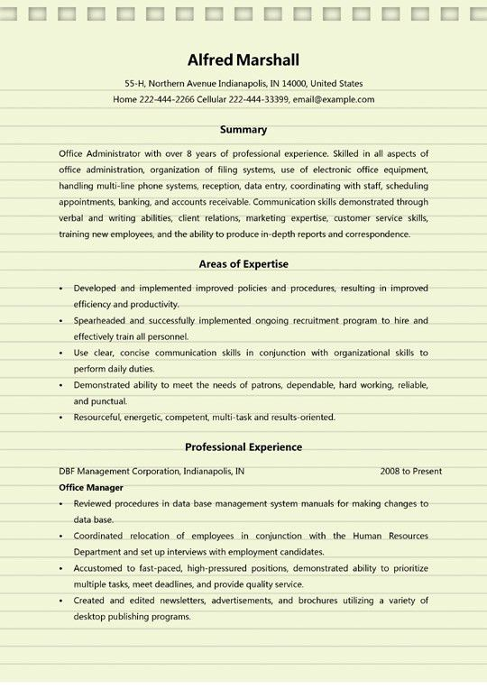 4+ Office Administrator Resume Examples - MS Word (.doc)