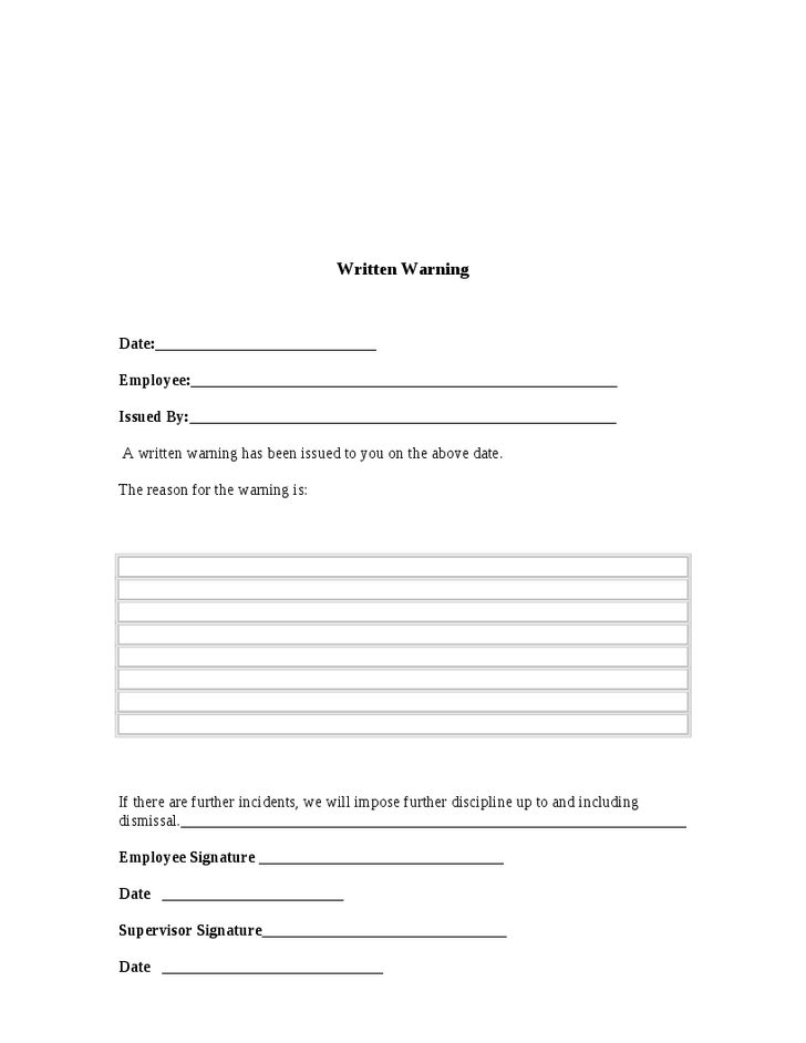 Absence Without Intimation - Warning Letter Format - Hashdoc