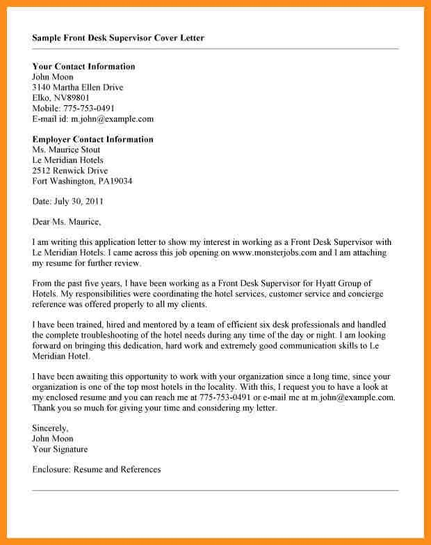 Ideas of Sample Front Office Cover Letter Also Layout ...